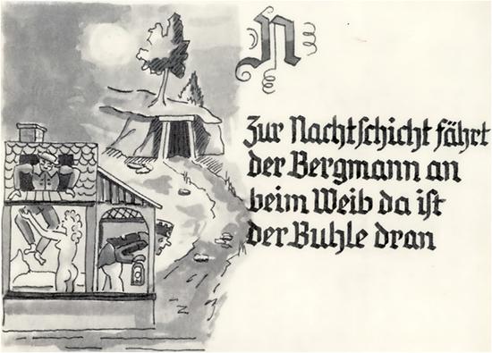 Sprichworter Gedichte Und Lieder Bergbau Im Erzgebirge